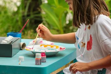 peindre en extérieur