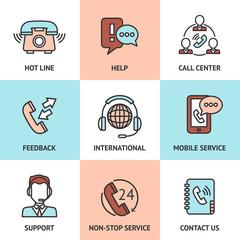 Call Center Design Concept Set