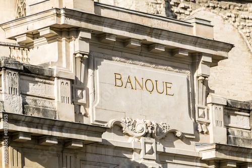Leinwanddruck Bild Bâtiment ancien banque