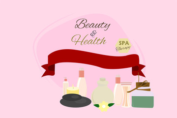 Beauty spa products background