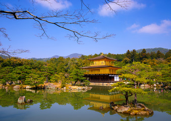 Kinkakuji Golden Pavilion, Kyoto, Japan (Zen temple)