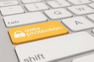 keyboard - data protection - yellow