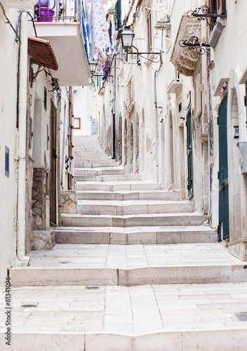 Street in Vieste, Puglia, Italy - 81341096
