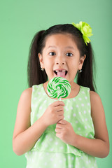Eating lollipop
