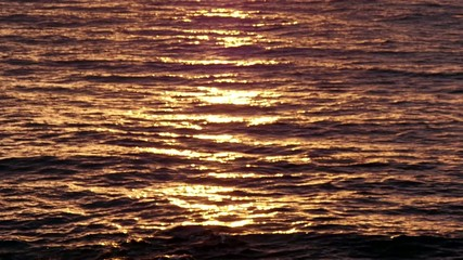 Golden Sea Waters at Sunrise
