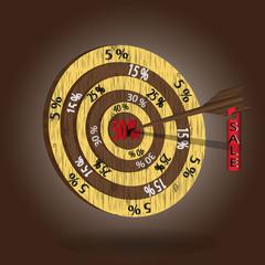 Wooden target