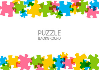 Puzzle background with place for Your text