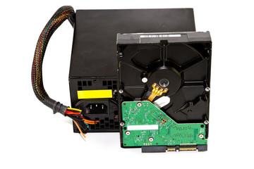 Kaputtes Computer Netzteil mit Interner Festplatte