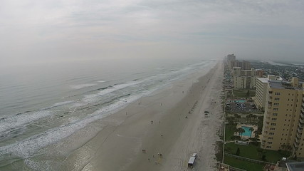 Daytona Beach Florida aerial view on a hazy day