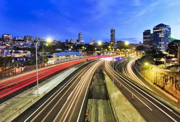 Sydney motorway lights domain