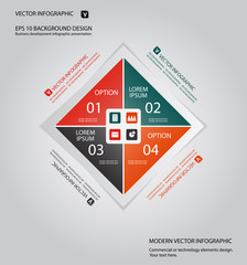 modern business infographic background