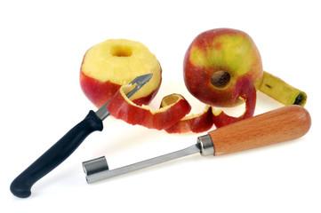 L'économe et l'évideur de pomme