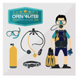 Scuba Character Diving Vector - 81345640