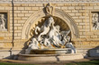 Leinwanddruck Bild - Fountain in the park Montagnola (Parco della Montagnolla) in the