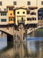 Firenze,Ponte Vecchio e fiume Arno.