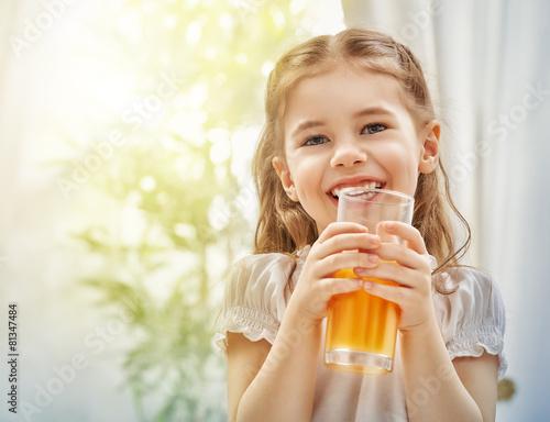 Leinwanddruck Bild fresh juice