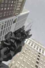 Holocaust Memorial & Center City Skyscrapers, Philadelphia