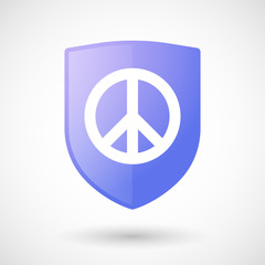 Shield icon with a peace sign
