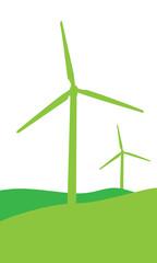 Windenergie (in grün)