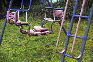 old dirty playground