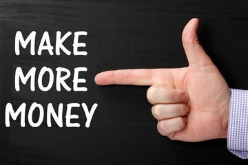 Pointing a Finger at the phrase Make More Money