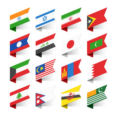 Flags of the World, Asia, set 2