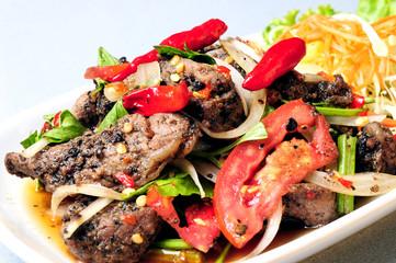 Steak spicy thailand style (yum steak mix)