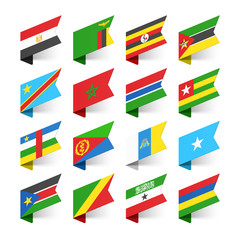 Flags of the World, Africa, set 1