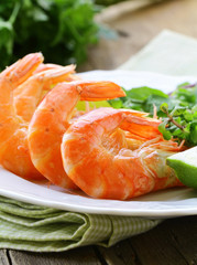 appetizer of shrimp with herbs and spices