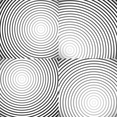 Concentric Circle Elements / Backgrounds. Abstract circle patter