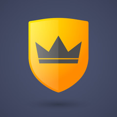 Shield icon with a crown