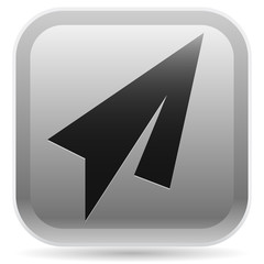 Gray-Black Paper Plane Icon (Rounded Square)