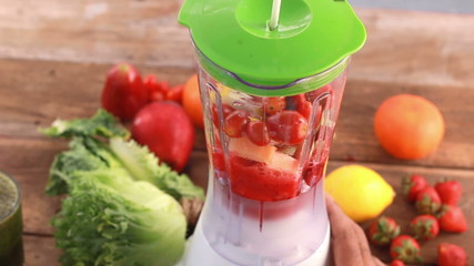 mix fruit and vegetable smoothie, Healthy drink