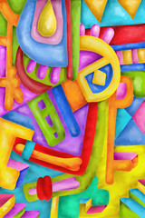 Abstract with colorful shapes