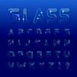 Vector glass font - 81353474