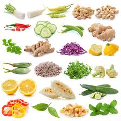 set of vegetable isolated on white background