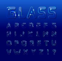 Vector glass font