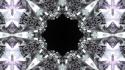 Crystalline abstract background. Seamless loopable.