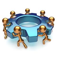 Teamwork business process workforce efficiency concept