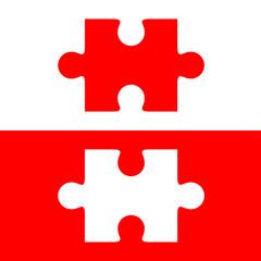 Pieza puzzle roja