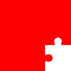 Fondo con pieza puzzle rojo