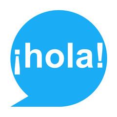 Icono texto ¡hola!
