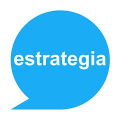 Icono texto estrategia