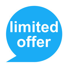 Icono texto limited offer