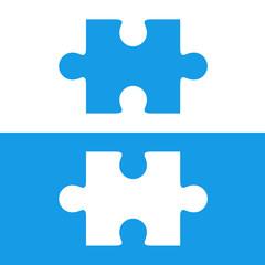 Pieza puzzle azul