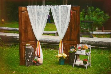 Decorative wedding arch