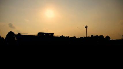 Football Stadium Silhouette Practice