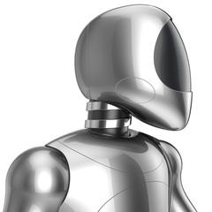 Cyborg futuristic robot iron man concept
