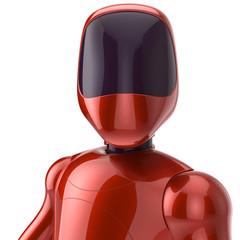 Robot futuristic red cyborg concept