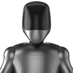 Cyborg robot android futuristic character concept